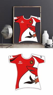 鲨鱼T恤印花设计