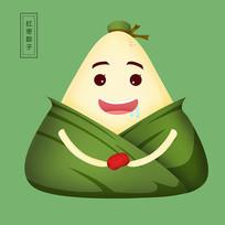 原创可爱卡通红枣粽子