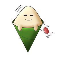 原创元素红豆粽表情包