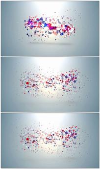 创意五角星动画演绎logo模板