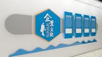 简约企业文化墙背景