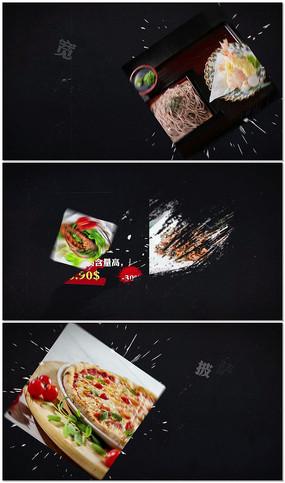 食物介绍栏目包装片头ae模板