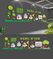 幼儿园卡通儿童文化墙展板