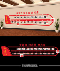 中国共产党的光辉历程文化墙展板