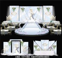 高端欧式婚礼背景板