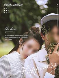 简约照片排版模板婚纱照杂志 PSD