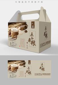 飞白笔触五谷杂粮包装礼盒设计PSD