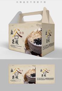 复古五谷杂粮包装礼盒设计PSD