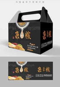 高端特产五谷杂粮包装礼盒设计PSD