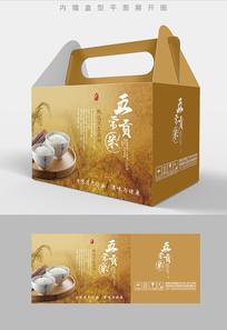 贡米大米包装礼盒设计