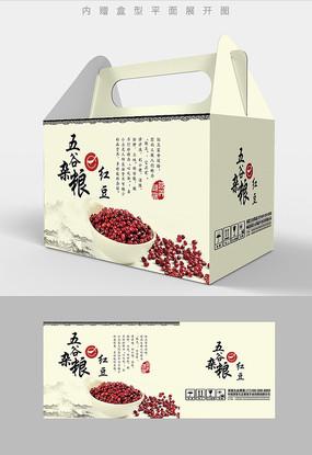红豆五谷杂粮包装设计