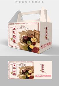 水墨飞白元素五谷杂粮包装盒设计