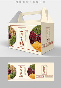 自然稻田五谷杂粮包装设计