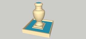 花瓶喷泉SU模型 skp