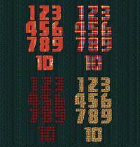 簡約圖案數字設計