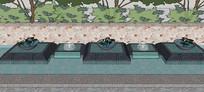 景观水景小品SU模型