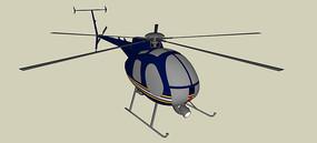警用微型直升机SU模型