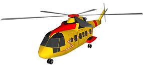 救援直升机SU模型