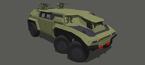 军事战斗车SU模型