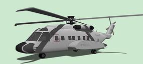 军用直升机SU模型