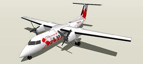 商业客机SU模型