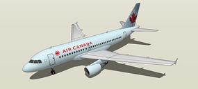 商用空客A319-100模型
