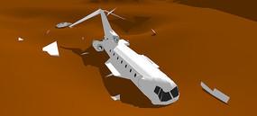 失事的飞机SU模型
