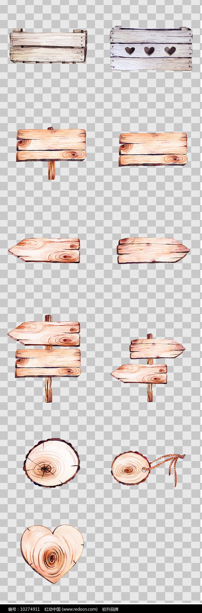 手绘木纹素材图片