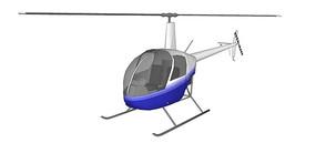 双人直升机SU模型