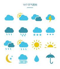 天气预报说明图标设计 EPS