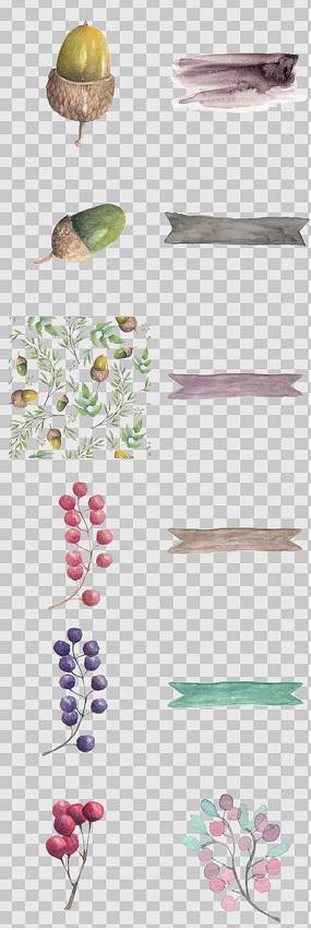 唯美森系松子 花卉素材