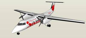 小型客运飞机SU模型