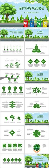 垃圾分类绿色环保主题PPT模板