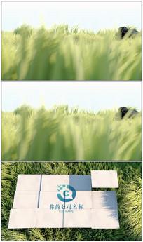 绿色青草logo演绎 ae模板