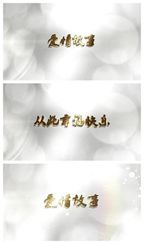 情人节爱情故事婚礼开场视频模板