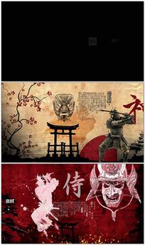 日本武士比武场景ae模板