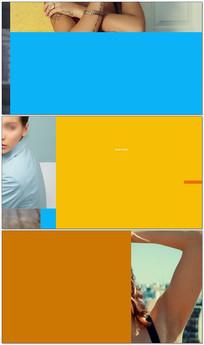 时尚图文展示片头模板