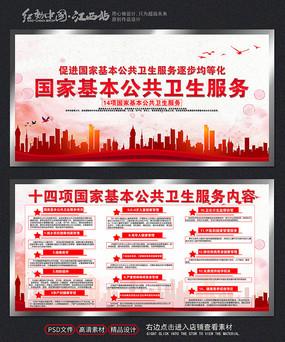 十四项国家基本公共卫生服务宣传展板