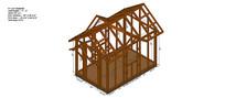 完整的小木屋构架SU模型