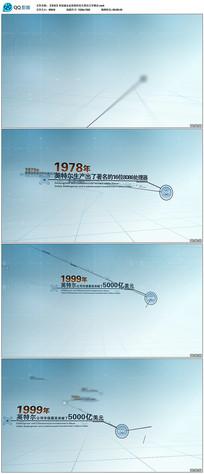 科技感企业发展历史大事记文字展示视频