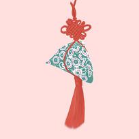 原创中国结香包元素设计