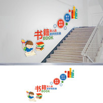 阅读校园楼梯文化墙