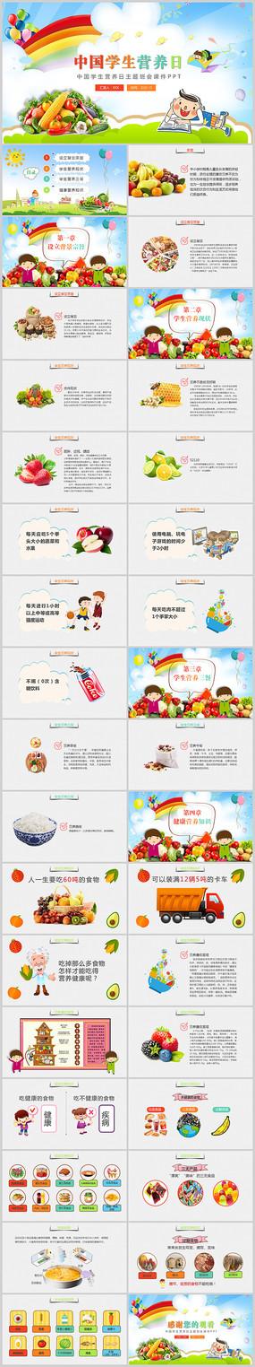 中国学生营养日主题班会PPT