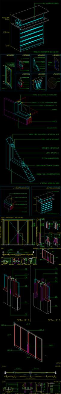 防火卷帘门铝合金门CAD节点图
