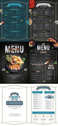 高端菜单台卡价目表设计