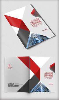 红色企业宣传画册封面设计模板