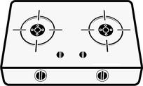 简约线条电磁炉灶原创设计