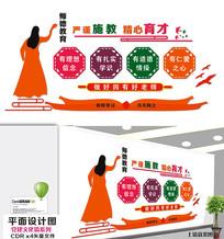 四好教师学校文化墙设计