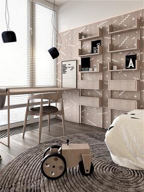 卧室木制的书桌