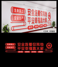 安全生产宣传文化墙设计
